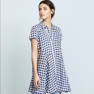 Free People Spring Love Gingham Tunic XS